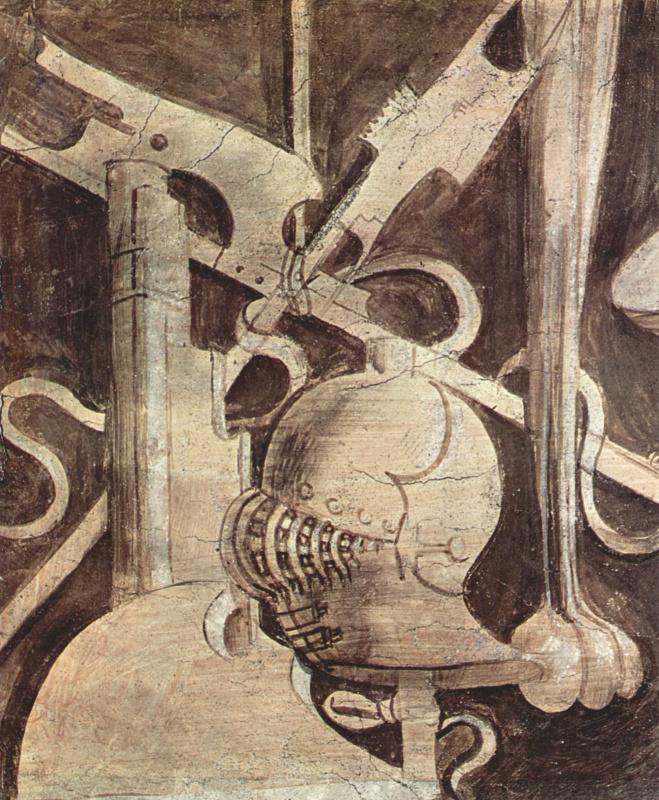 """Giorgione. Frieze """"Free art and mechanical art"""". Armor"""