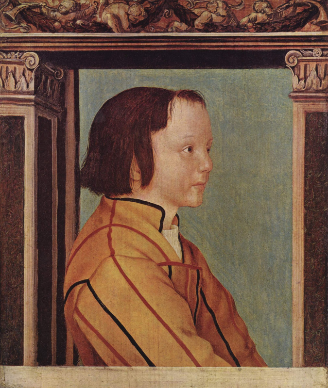 Ambrosius Holbein. The dark-haired boy