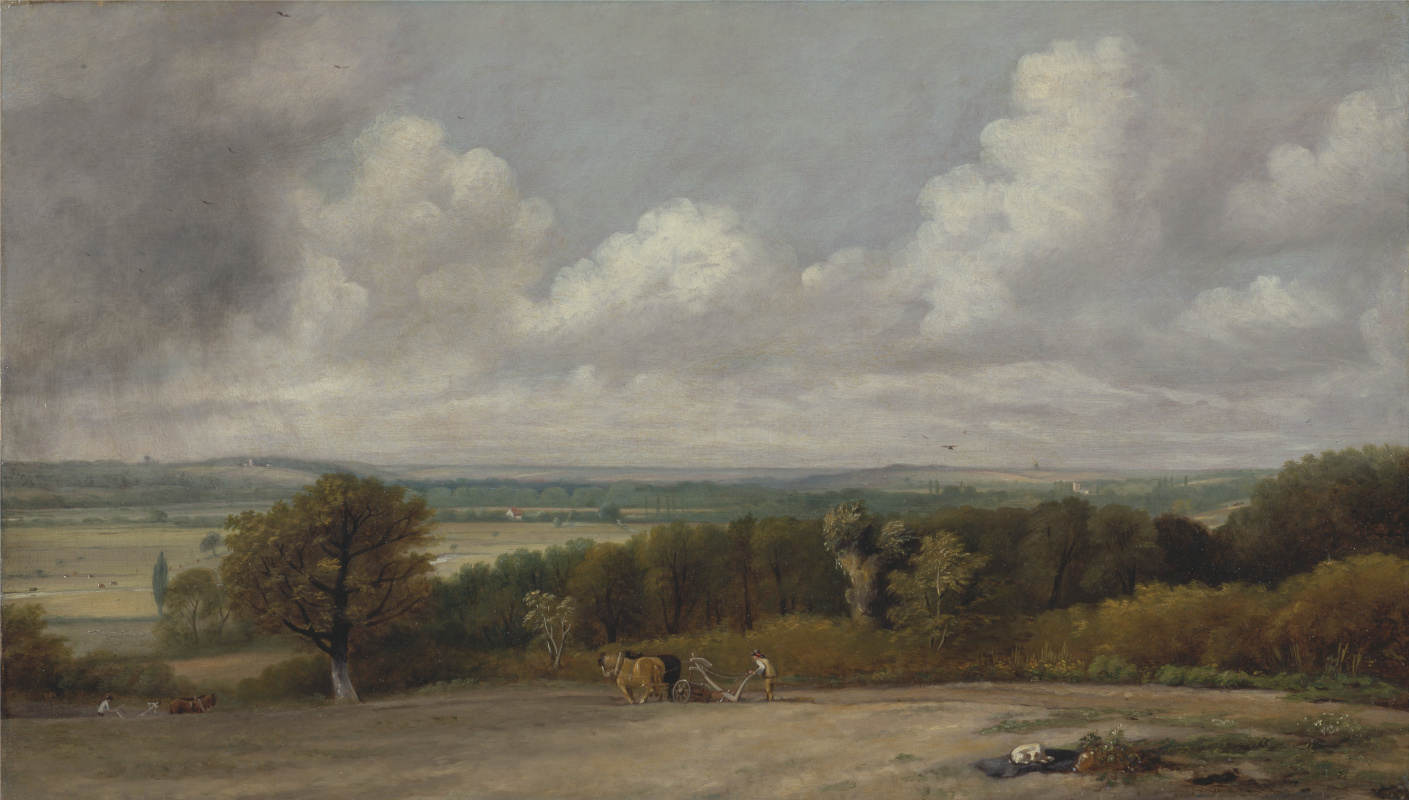 John Constable. The ploughing scene in Suffolk