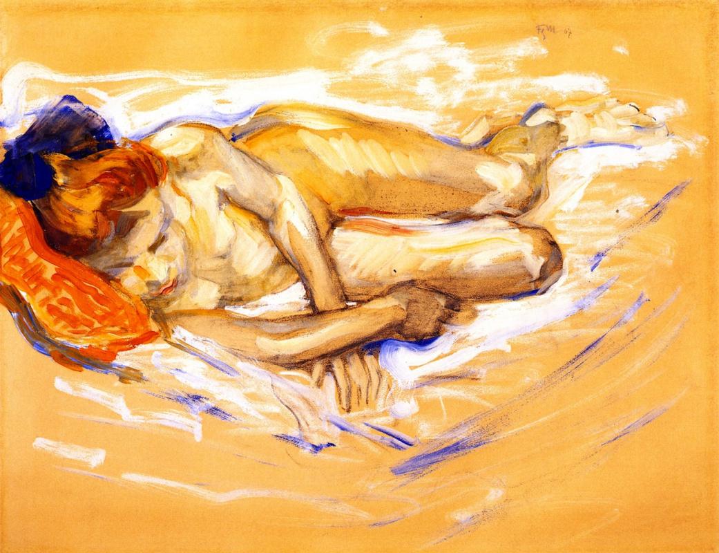 Franz Mark. Nude Girl