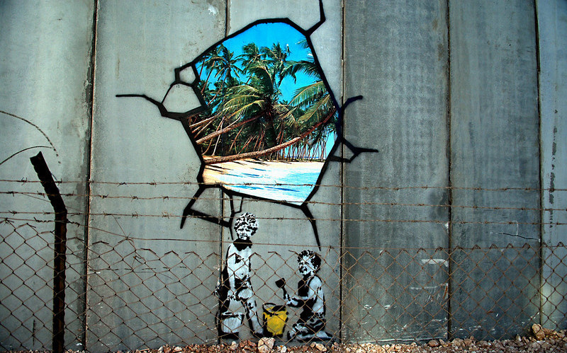 Banksy. Unwanted interference