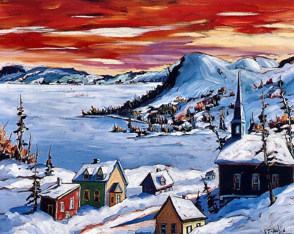 Yvonne Auben. Winter sunset