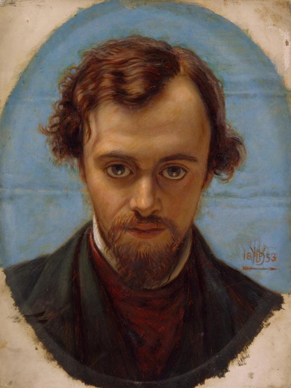 Уильям Холман Хант. Портрет Данте Габриэля Россетти в возрасте 22 лет