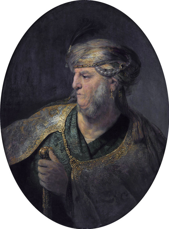 Rembrandt Harmenszoon van Rijn. Portrait of a man in Oriental dress