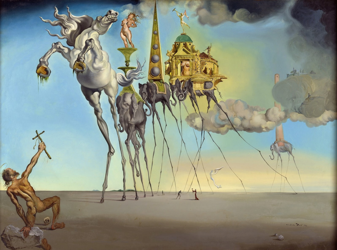Salvador Dali. Temptation of St. Anthony