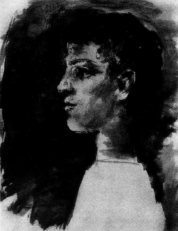 Пабло Пикассо. Профиль девушки
