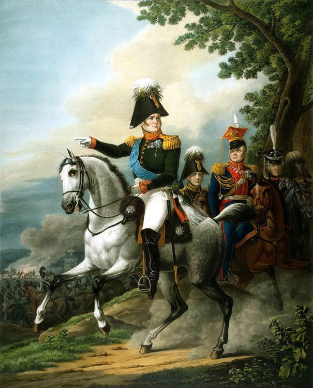 Поль Лимбург. Конный портрет Александра I