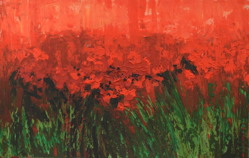 """Tanya Vasilenko. """"Poppies"""", acrylic on canvas. Poppies. Acrylic on canvas."""