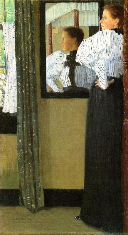 Джулиан Олден Уир. Отражение в зеркале