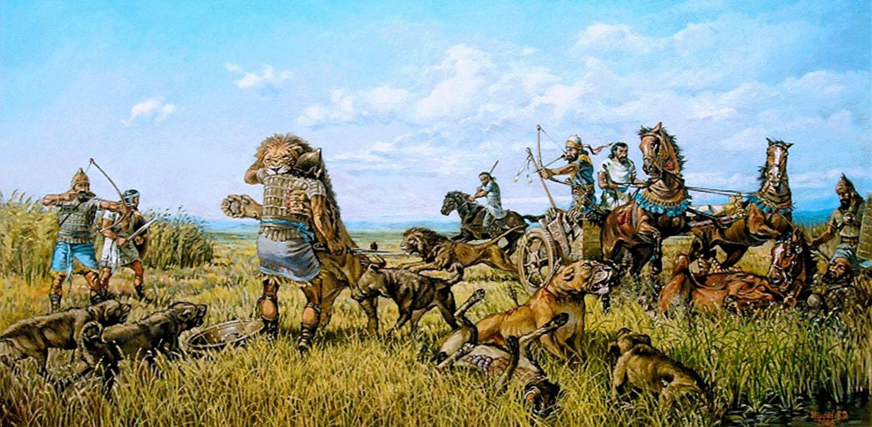 Vasily Daniilovich Ishoev. Great hunting for lions