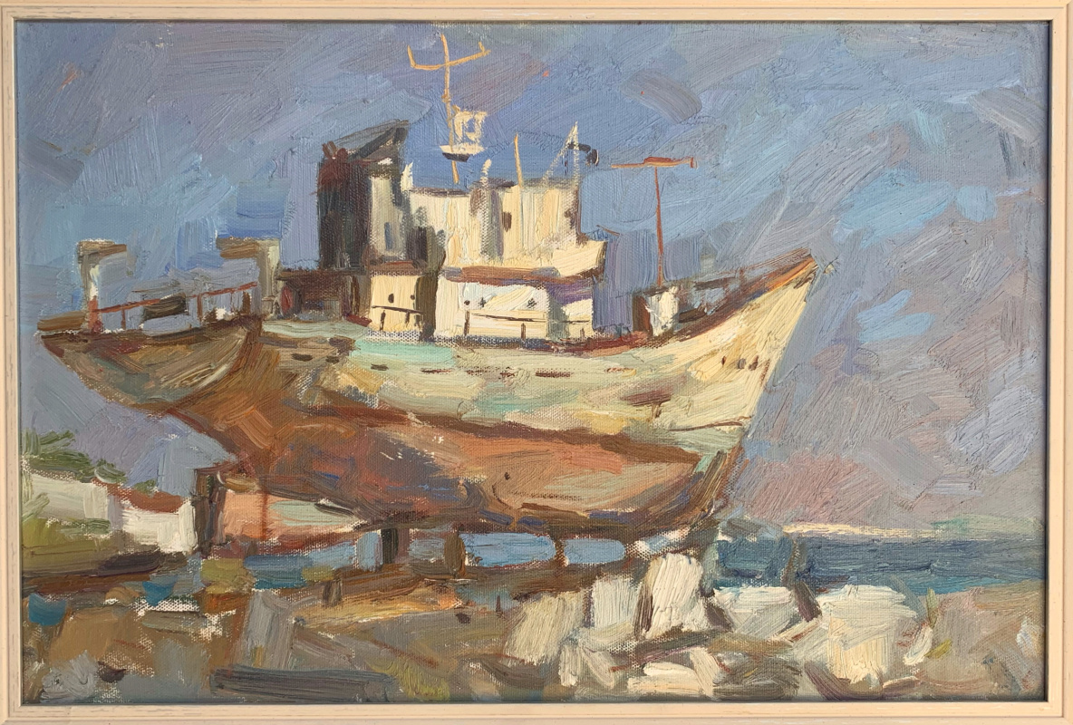 Alena Sukhoborova-Kazarina. Shipyard. Kerch