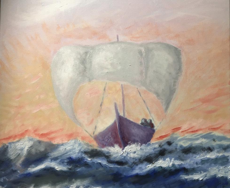 Mihails (Mikhail) Valentinovich Ribenko (Rybenko). Under sail