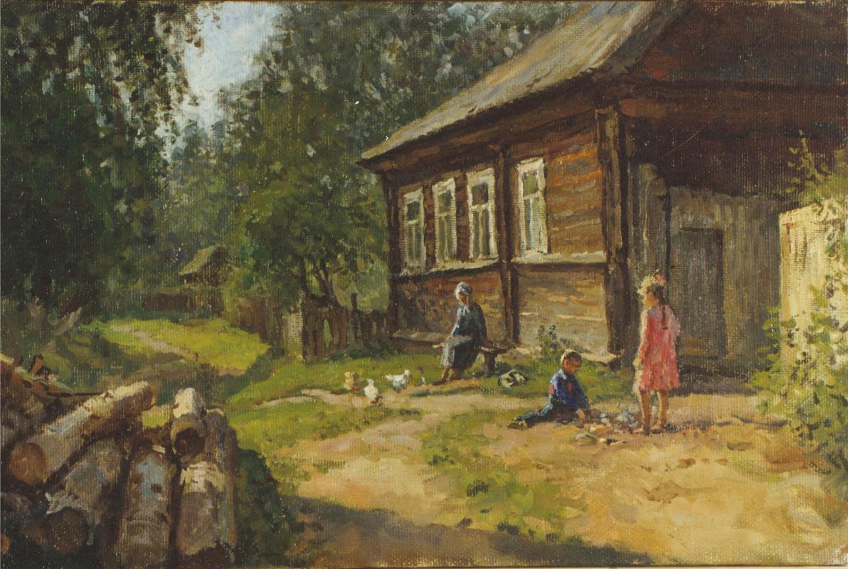 Aleksandr Chagadaev. Visiting grandmother
