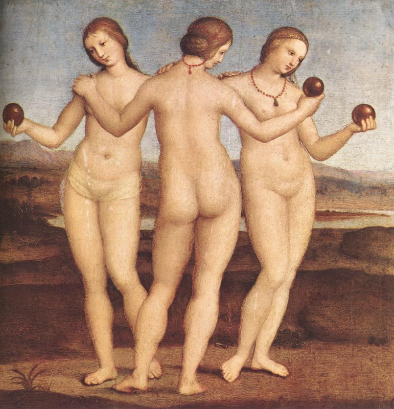Raphael Santi. The three graces