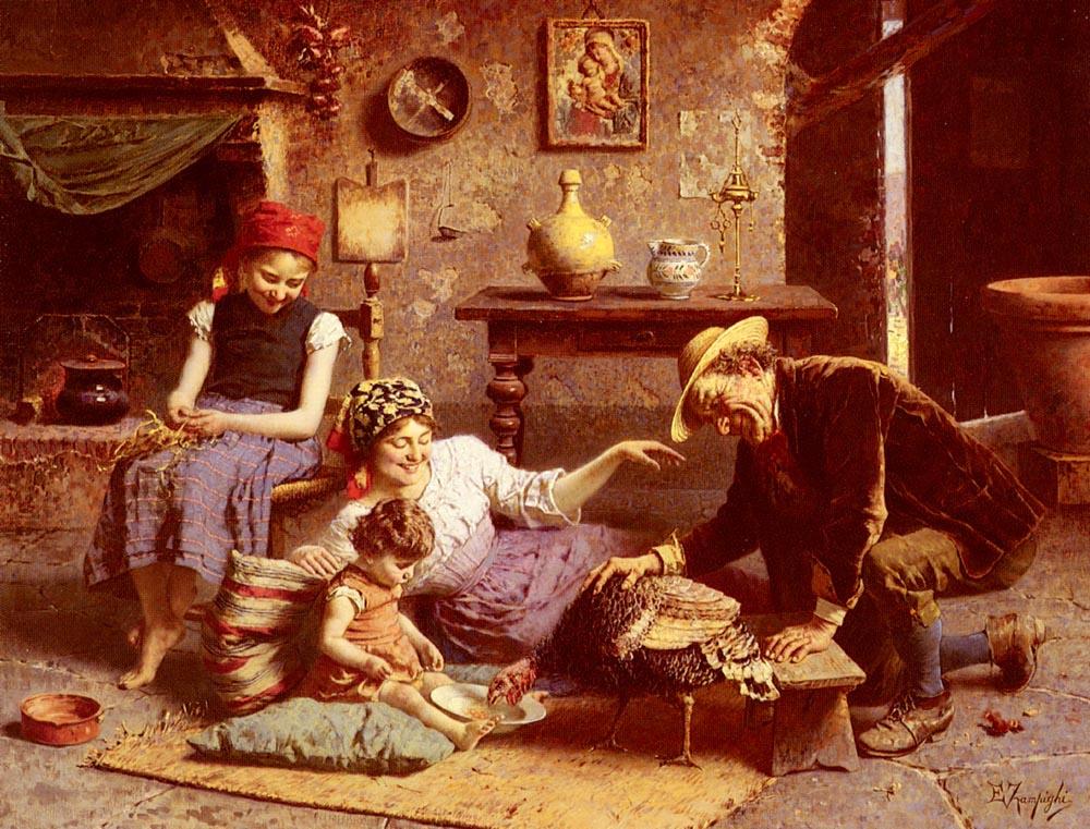 Eugenio Zampigi. Famine in Turkey