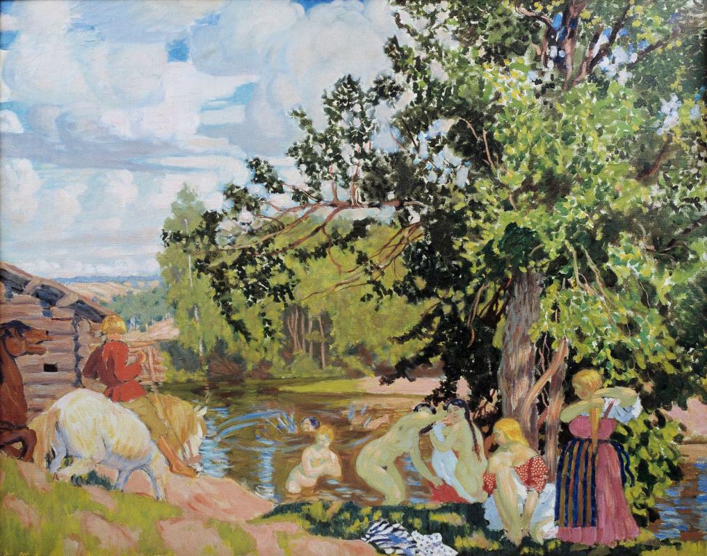 Boris Kustodiev. Bathers