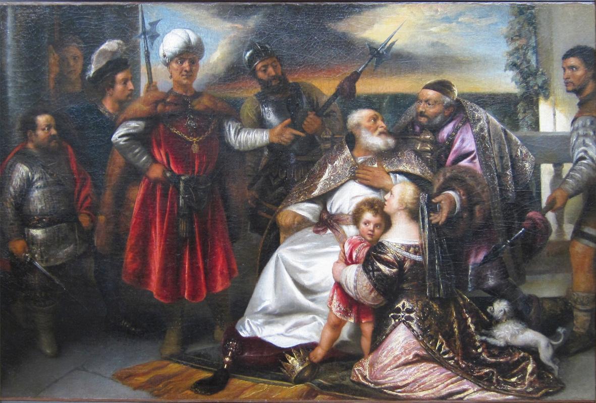 Ян Ливенс. Моисей наступает ногой на корону