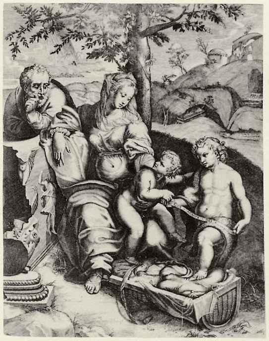 Доменико Тибальди. Святое семейство под дубом