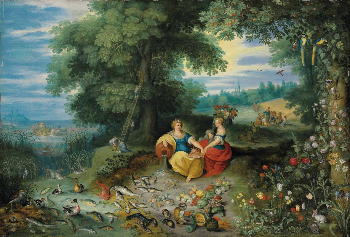 Jan Brueghel the Younger. Allegory of Water and Earth