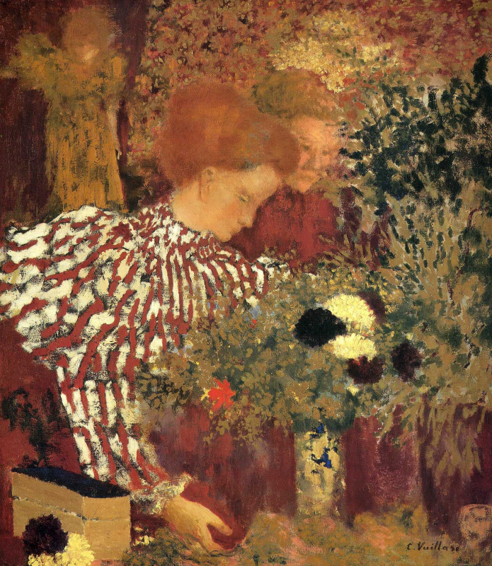 Jean Edouard Vuillard. Woman in striped dress