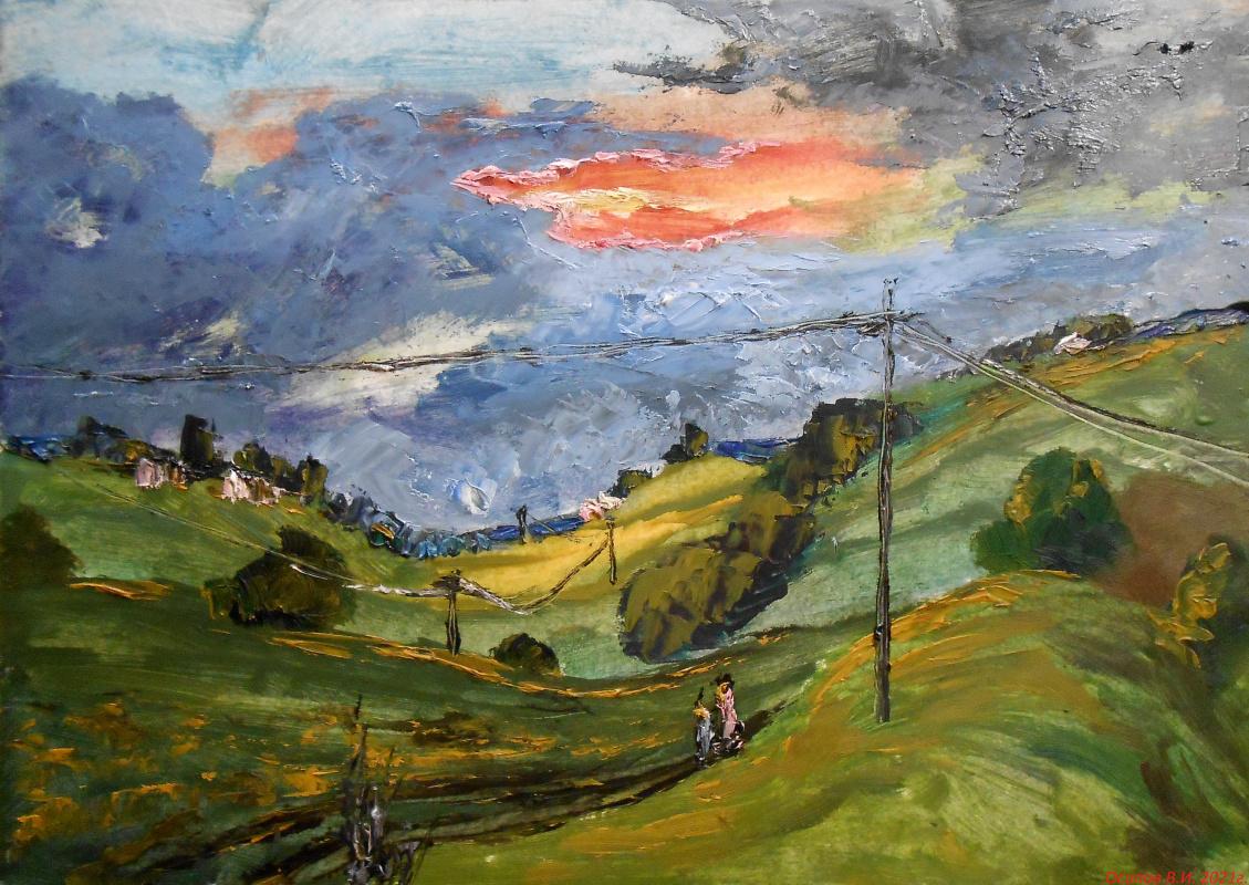 Владимир Иванович Осипов. Country road