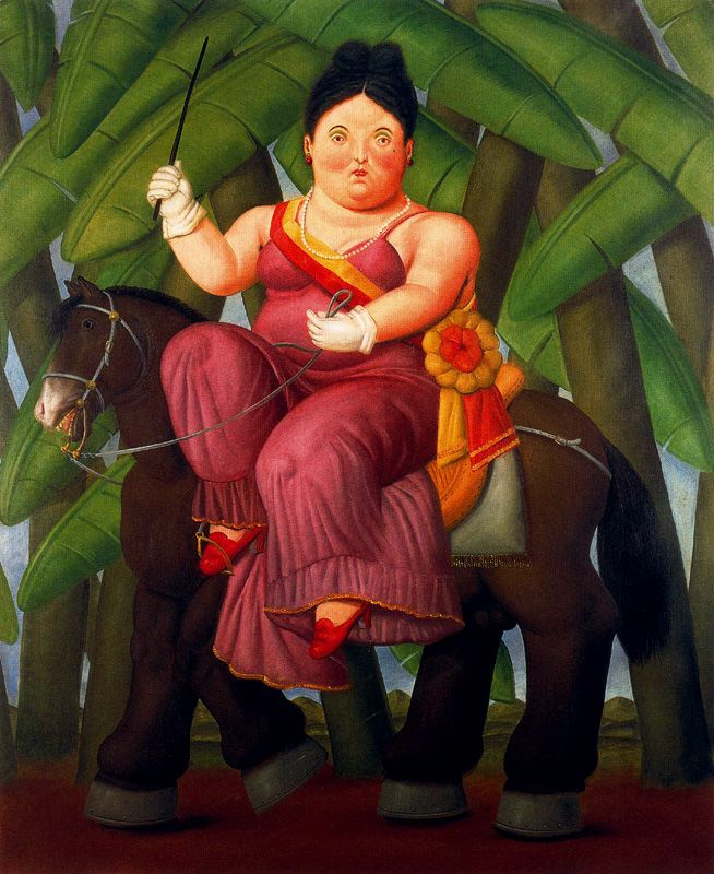 Fernando Botero. First lady