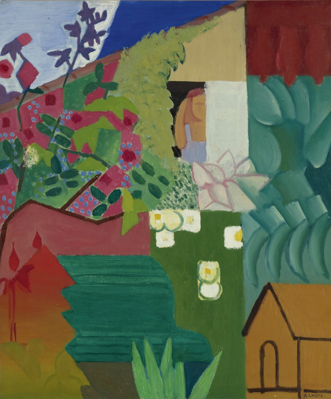 Андре Лот. Сад с собачьей будкой. 1916