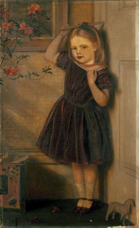 Arthur Hughes. Cecilia Ursula at the age of three