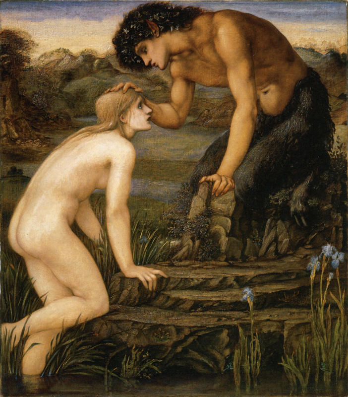 Edward Coley Burne-Jones. Pan and Psyche