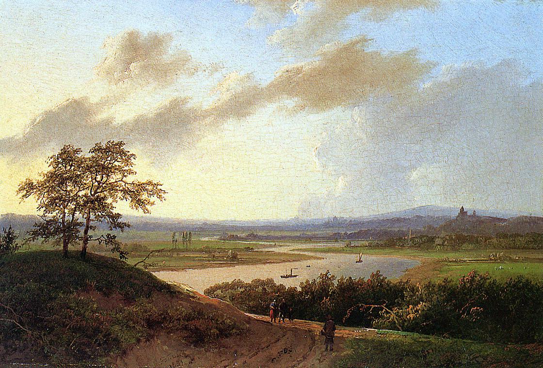 Marinus Kukkuk. Rhine landscape