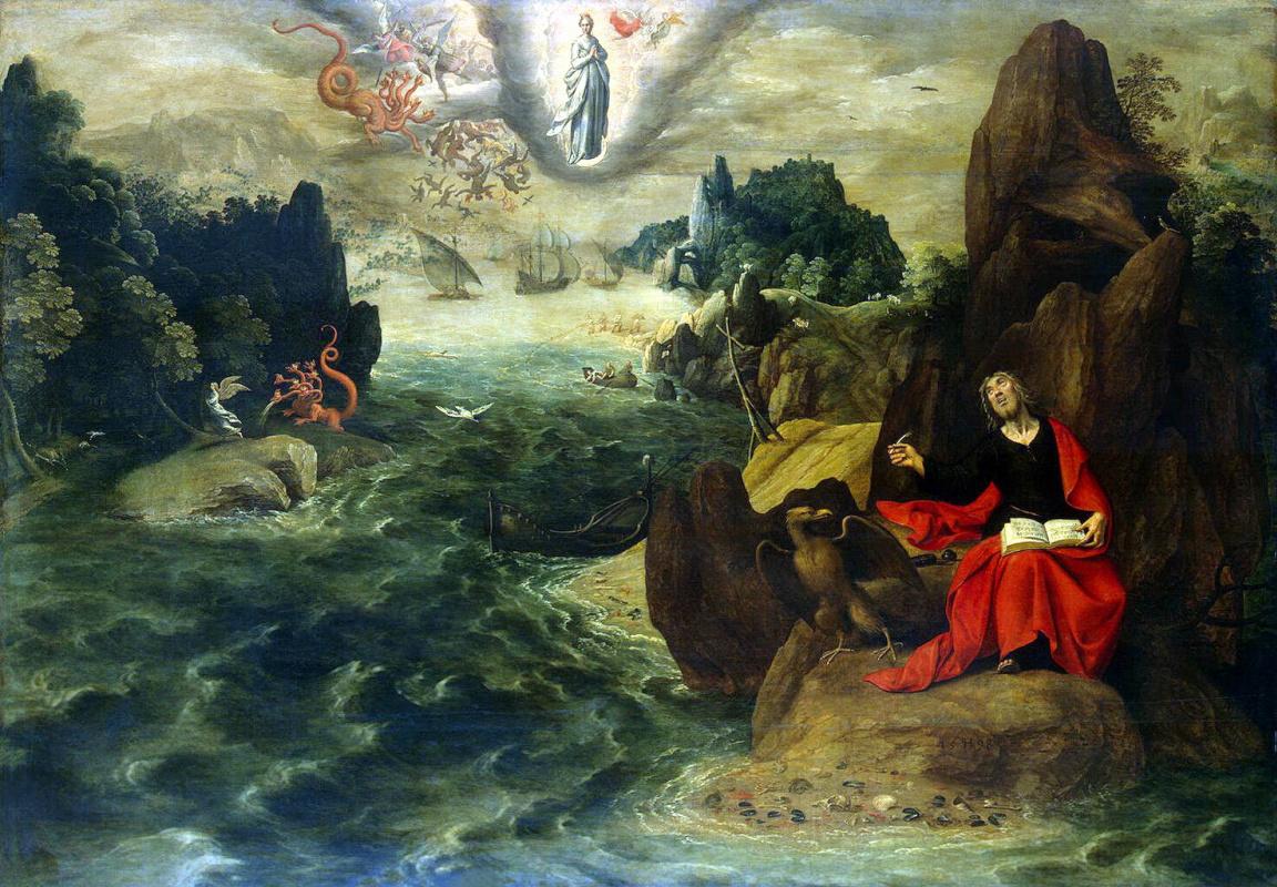 Тобиас Конье Жиль Верхахт. Пейзаж с Иоанном Евангелистом