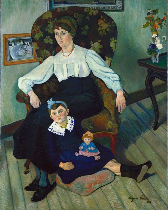 Suzanne Valadon. Portrait of Maria Coca and her daughter