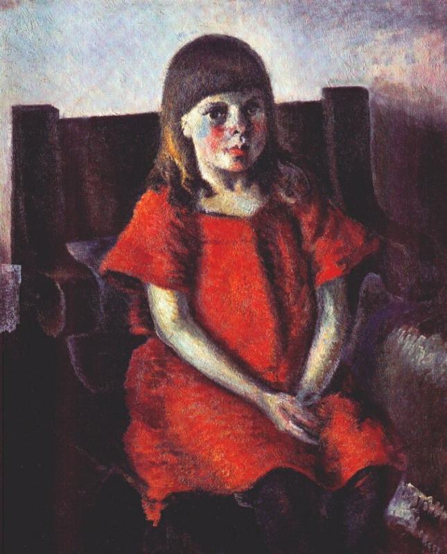 Константин Клавдианович Зефиров. Портрет девочки. Дочь художника Лена
