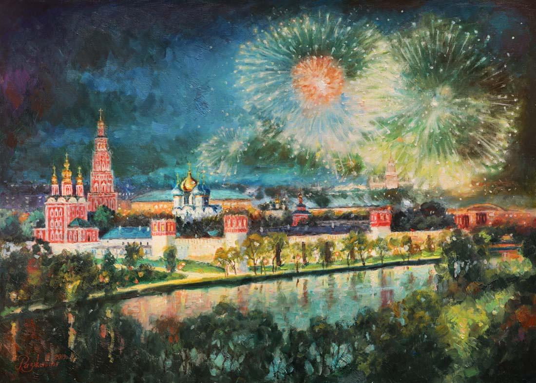 Igor Razzhivin. Symphony of the evening city