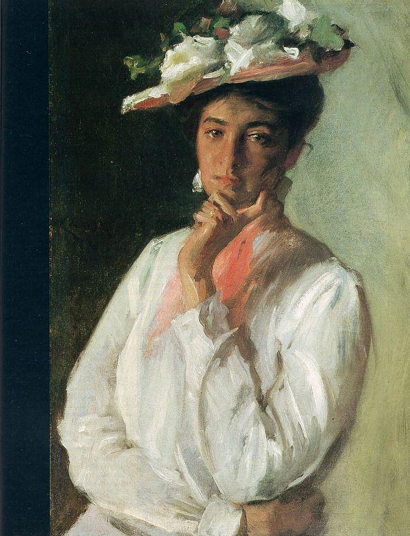 Уильям Чейз. Очаровательная дама в шляпе