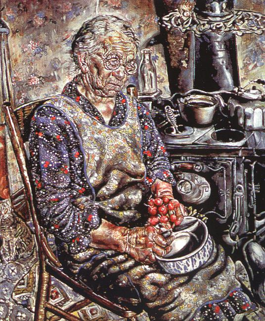 Иван Ле Лоррейн Олбрайт. Пожилая женщина