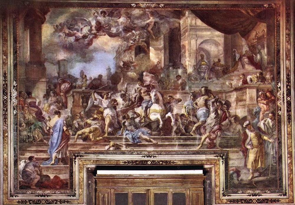 Франческо Солимена. Изгнание Илиодора из храма