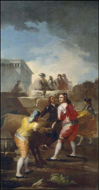 Франсиско Гойя. Бой с молодым быком