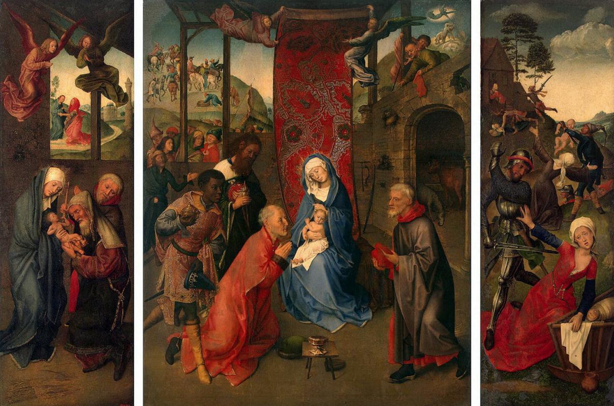Hugo van der Gus. The adoration of the Magi