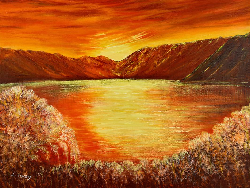Leda Vysotsky. Sunset lagoon