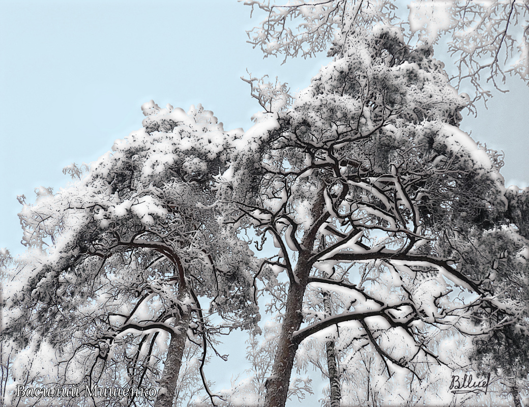 Vasiliy Mishchenko. Winter landscape 0100