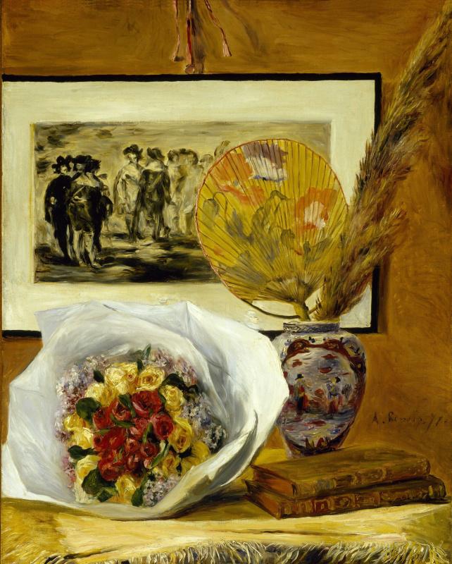 Pierre-Auguste Renoir. Still life with bouquet