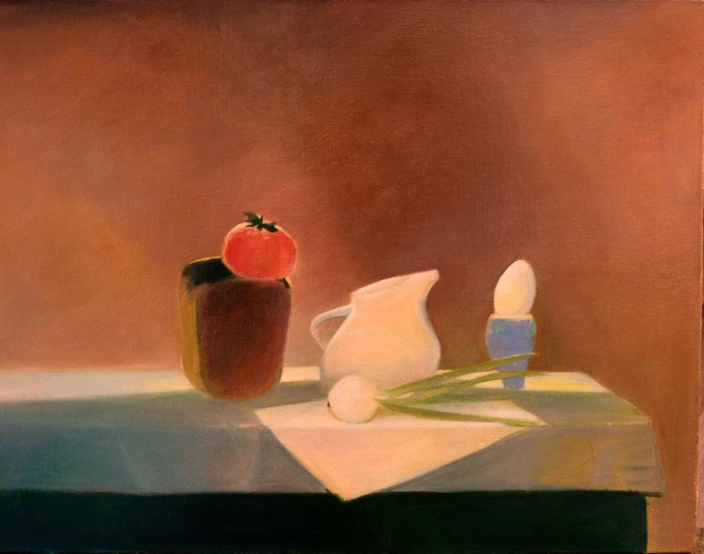 """Julia Dmitrievna Astrovskaya. """"Breakfast"""" (from the series """"Simple Things"""")"""
