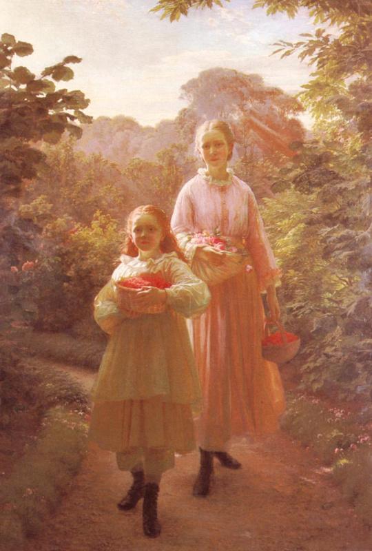 Оле Хенрик Олрик. Сестры собирают малину и розы