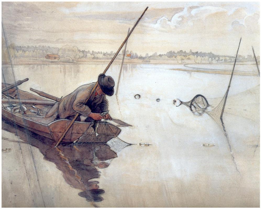 Carl Larsson. Fishing