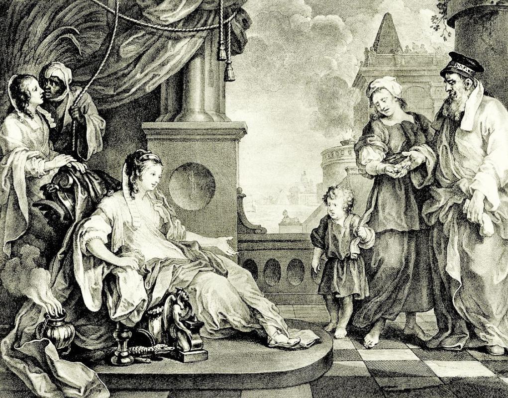 Уильям Хогарт. Маленький Моисей перед дочерью фараона