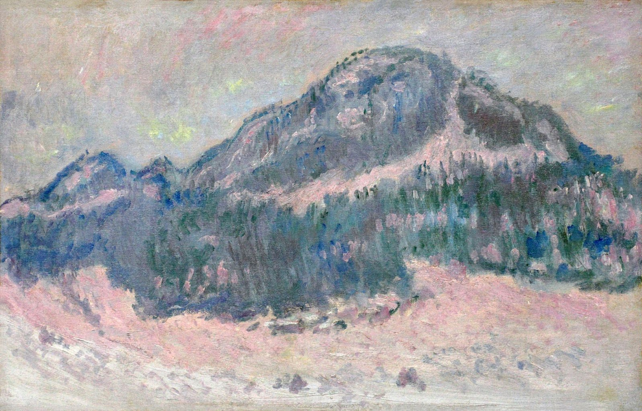 Claude Monet. Mount Kolsaas, pink reflection