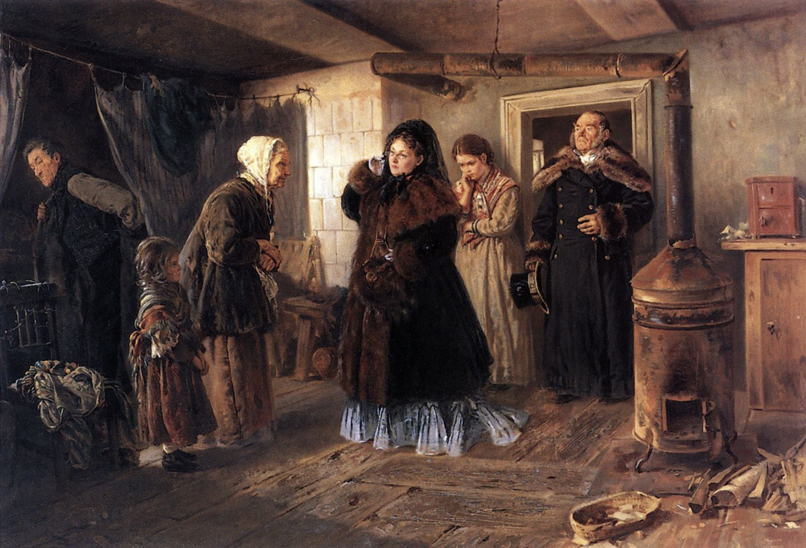 Vladimir Egorovich Makovsky. Visit to the poor