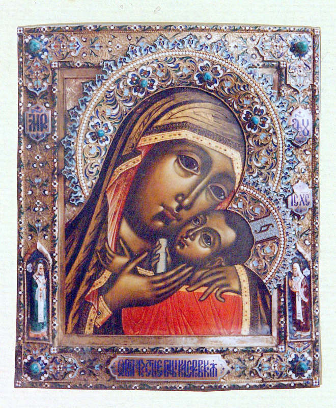 Moscow Icon Painting Workshop. The icon the virgin of Korsun