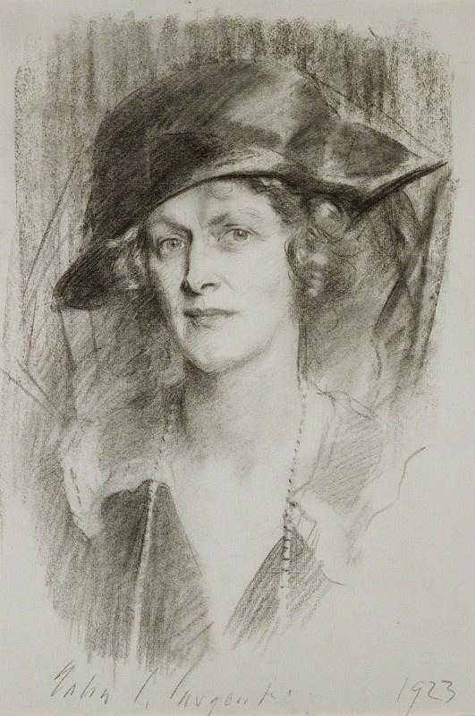John Singer Sargent. Portrait of Nancy Astor, viscountess Astor
